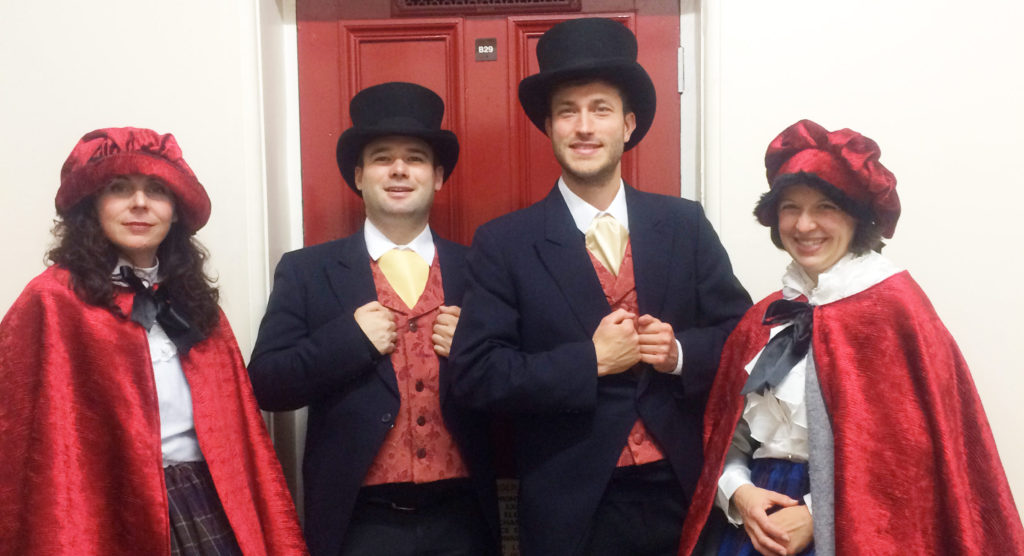 The London Carol Singers as Victorian Carolers